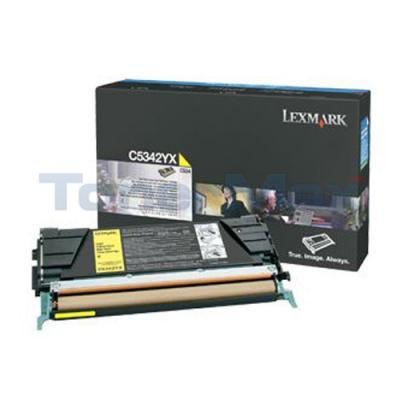 LEXMARK C534 TONER CARTRIDGE YELLOW 7K